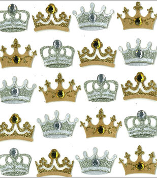 Jolee's Mini Repeats Stickers-Crowns