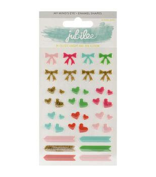 Jubilee Mint Julep Adhesive Enamel Shapes -Wild
