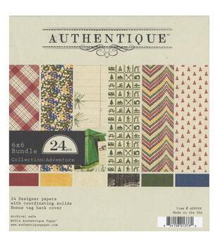 """Authentique Bundle Cardstock Pad 6""""X6"""" 24/Sheets-Adventure"""