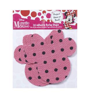 Disney Minnie Mouse Ears Adhesive Printed Burlap Large