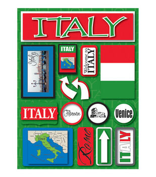 Reminisce Dimensional Stickers-Italy
