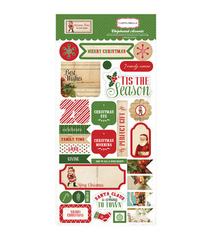 """Christmas Time Chipboard 6""""X12""""-"""