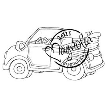 Magnolia Sweet Rainbow Cling Stamp Tilda's Summer Car