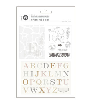 Empire Bebe Finishing Pack-#2 Transparencies, Stamp & Alpha Stickrs