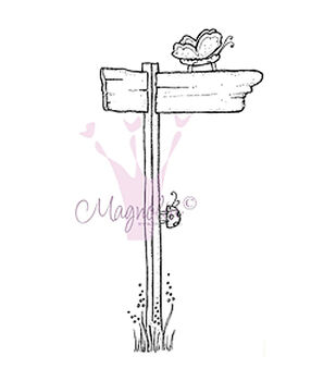Magnolia Chasing Butterflies Chasing Butterflies Sign Cling Stamp