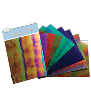 "Mylar Shimmer Sheetz Sampler 5""X4"" 10/Pkg-Gemstone"