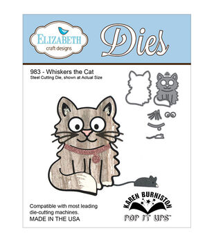 Elizabeth Craft Designs Pop It Up Whiskers The Cat Metal Dies