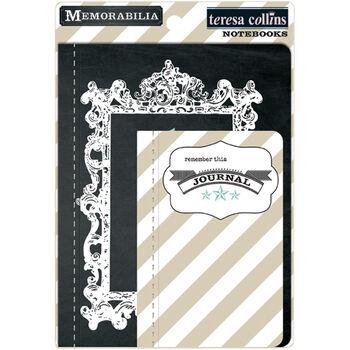 Teresa Collins Memorabilia Stitch Bound Cardstock Notebooks