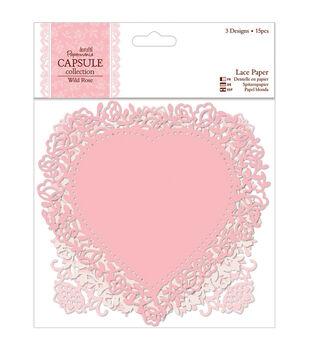 "Papermania Wild Rose Die-Cut Lace Paper 5.5"" 12/Pkg-"