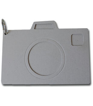 Camera Shaped Chipbord Album