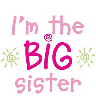 Uptown Baby Color Transfer Iron-Ons-I'm The Big Sister