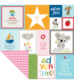 "Tiny Tots Double-Sided Cardstock 12""X12""-Daily Details"