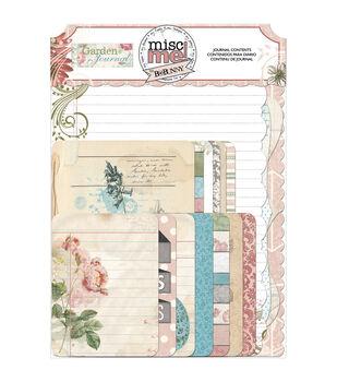 Bo Bunny Misc Me Garden Journal Pocket Contents