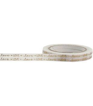Little B Foil Tape 3mmX20m-Gold Love