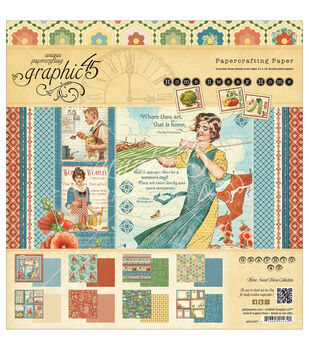 Graphic 45 Home Sweet Home Paper Pad 12''x12''