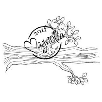 Magnolia Sweet Rainbow Cling Stamp Tree Branch