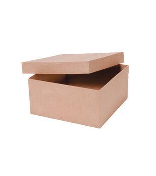 Darice 10''x10''x5'' Paper Mache Box