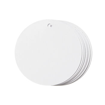 Small Circle Tags White