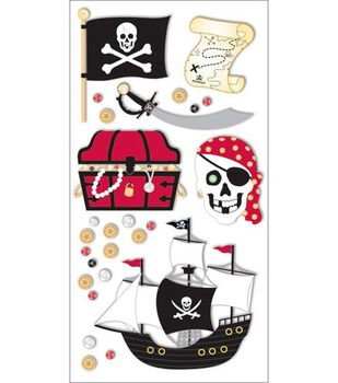 Sandylion Essentials Large Size Adhesive Embellishments-Pirate Adventure