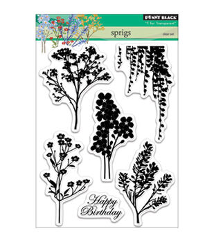 Penny Black Sprigs Clear Stamps 5''x6.5''