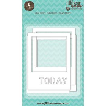 Jillibean Soup Stampables 12/Pkg-White Frames