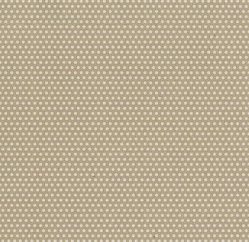 Canvas Corp White  & Kraft Mini Dot Printed Cardstock 12''x12''