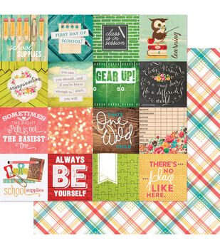 """Hall Pass Double-Sided Cardstock 12""""X12""""-Making The Grade"""