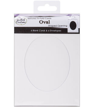 Quilled Creations Cards & Envelopes-6PK/Tri-Fold Oval