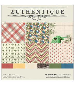 """Authentique Paper Pad 12""""X12"""" 20/Pkg-Adventure"""