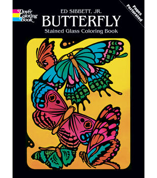 Dover Publications-Butterfly Stained Glass Coloring Book