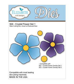 Elizabeth Craft Metal Die-Crystal Flower Set 1