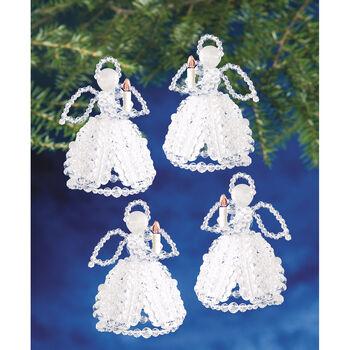 Crl Angels-beaded Ornament Kit