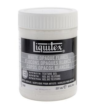 Liquitex White Opaque Flakes-8 Ounces