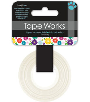 "Tape Works Tape .625""X50'-Multicolor Floral"