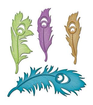 Spellbinders Shapeabilities Dies-Peacock Feathers