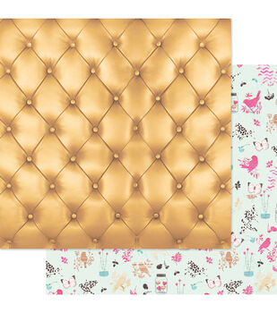 """Beautiful Chic Double-Sided Cardstock 12""""X12""""-Buttoned Up"""