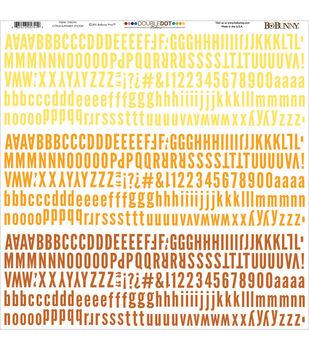 Bo Bunny Double-Dot Alpha Stickers