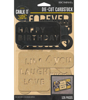 Black Word And Letter Die-cut Cardstock