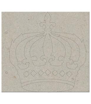 "Marie Antoinette Die-Cut Grey Chipboard Album 8""X9""-Crown: Cover & 5 Pages"