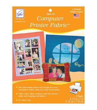 June Tailor Computer Printer Fabric 4/Pkg