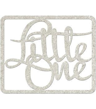 Fabscraps Little One Die-Cut Gray Chipboard Word
