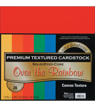 "Core'dinations Value Pack Cardstock 12""X12"" 20/Pkg-Over The Rainbow-Textured"