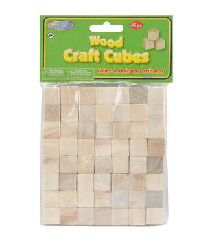 "Craftwood Wooden Cubes 5/8"" 36/Pkg-Natural"