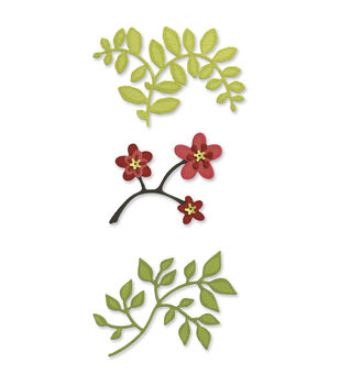 Sizzix Sizzlits Die Set Flowers, Branches And Leaves