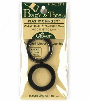 Clover Black Nickel Plastic O Ring-3/4'' 2/Pkg