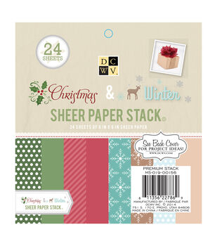 "DCWV 6""x6"" Christmas and Winter Sheer Paper Stack"