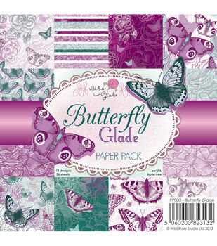 Wild Rose Studio Butterfly Glade Paper 6''x6''