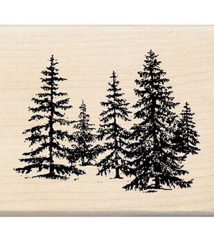 Inkadinkado Rubber Stamp-Stand Of Pines