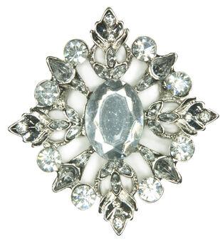 Laliberi Rhinestone Silver Diamond Brooch Pin