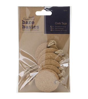 Papermania Bare Basics Circle Cork Tags